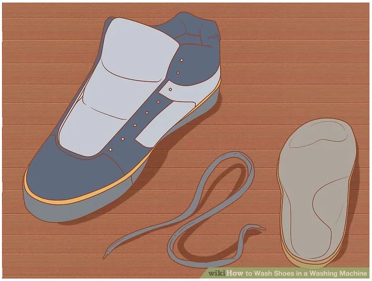 Remove the insoles and laces, if necessary