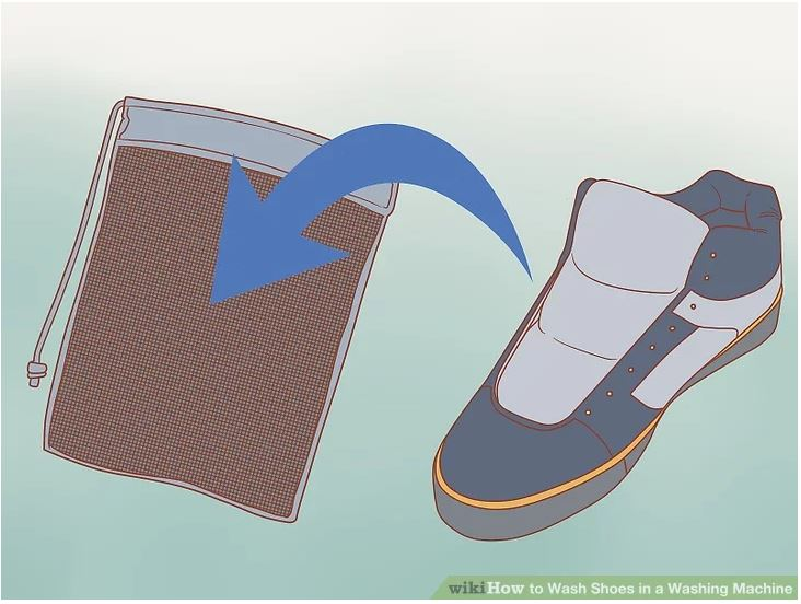 Place the shoes in a mesh bag or pillow case